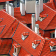 Stock Photo: Red roofs, Prague