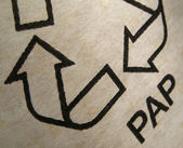 Paper recycling sign — Stock Photo