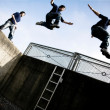 Stock Photo: Parkour jump