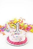 First Birthday Cake — Stock Photo