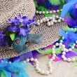 Easter Hat With Pearls - Stock Photo