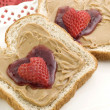 Valentine Peanut Butter and Jelly — Stock Photo