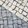 Black and white cobblestones — Stock Photo