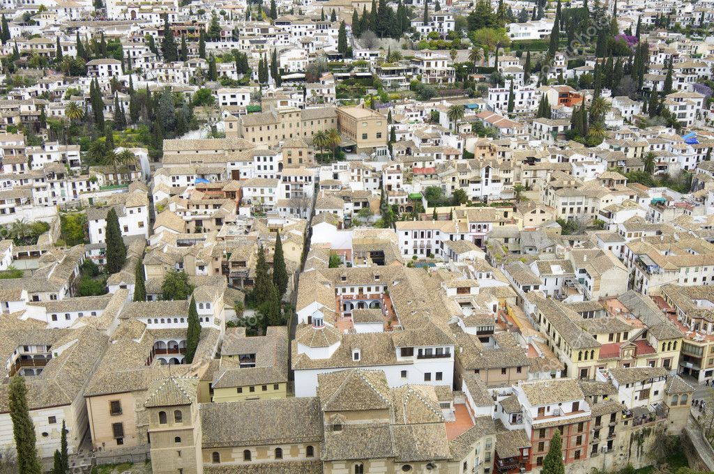 View from above the old town of Granada, Andalusia, Spain — Stock Photo #5311969