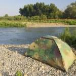 Camouflage tent — Stock Photo #5340138
