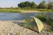 Camouflage tent — Stockfoto