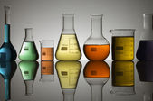 Laboratory containers — Stock Photo