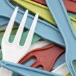 Plastic forks - Stock Photo