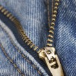 Zip close up - Stock Photo