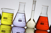 Laboratory flasks — Stock Photo