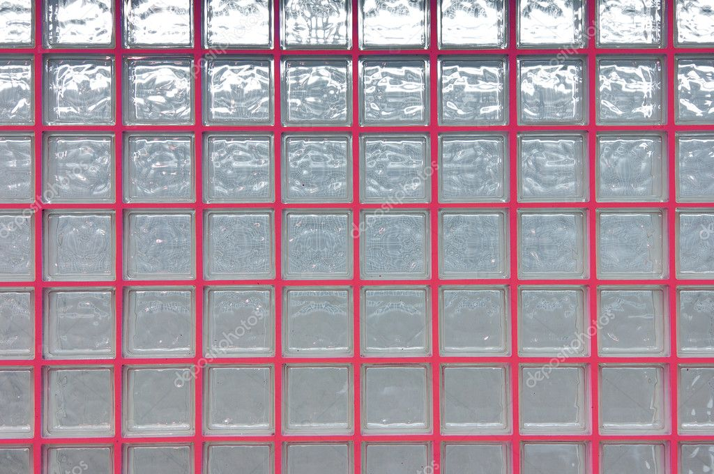View of a wall consisting of glass cubes photographed backlit — Stock Photo #5357867