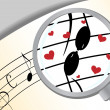 Stock Vector: Music in love
