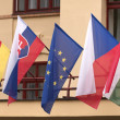 Stock Photo: Central-european- and EU-flags