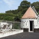 Dovecote near windmill — Stock Photo