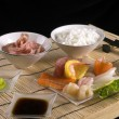 Sashimi table appointments - Stock Photo