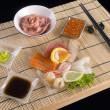 Sashimi table appointments — Stock Photo