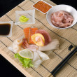 Sashimi table appointments — Stock Photo