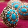 Silver with turquoise — Stock Photo