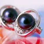 Black pearls — Stock Photo