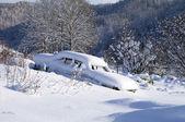 Kar araba — Stok fotoğraf