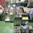 Stock Photo: Confectionery factory on production cookie