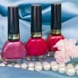 Nail polish and pearls — Foto Stock
