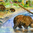 Bears on fishing — Stock Photo #5305291