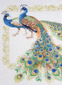 "Embroidery ""Peafowl"" — Stock Photo"