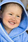 Little girl smiles — Stock Photo