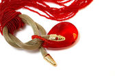Necklace red — Stock Photo