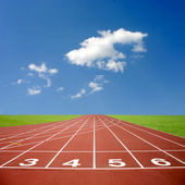 Sports athletics track — Stock Photo