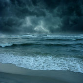 Storm ont the sea — Stock Photo