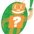 Answer bot — Stock Vector