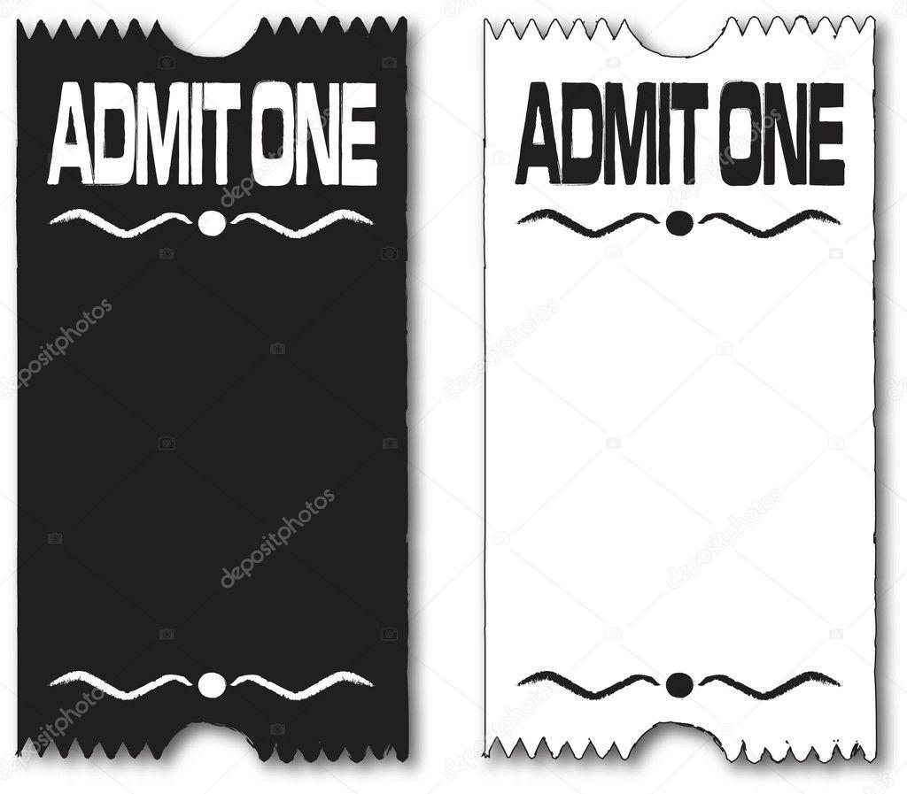 retro movie ticket template editable