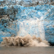 Calving ice on the Childs Glacier — Foto Stock
