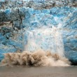Stock Photo: Calving ice on the Childs Glacier