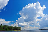 Summer clouds over the Quetico — Stock Photo