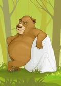 Cartoon björn — Stockvektor