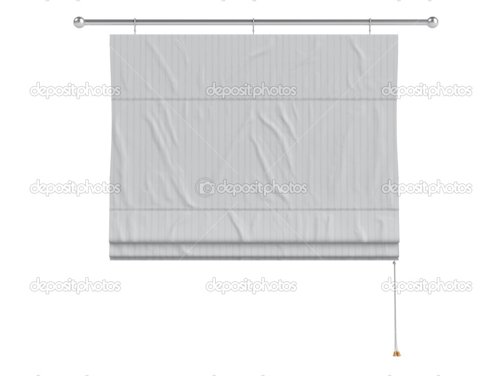 Roman curtain isolated on white background — Stock Photo #5345109