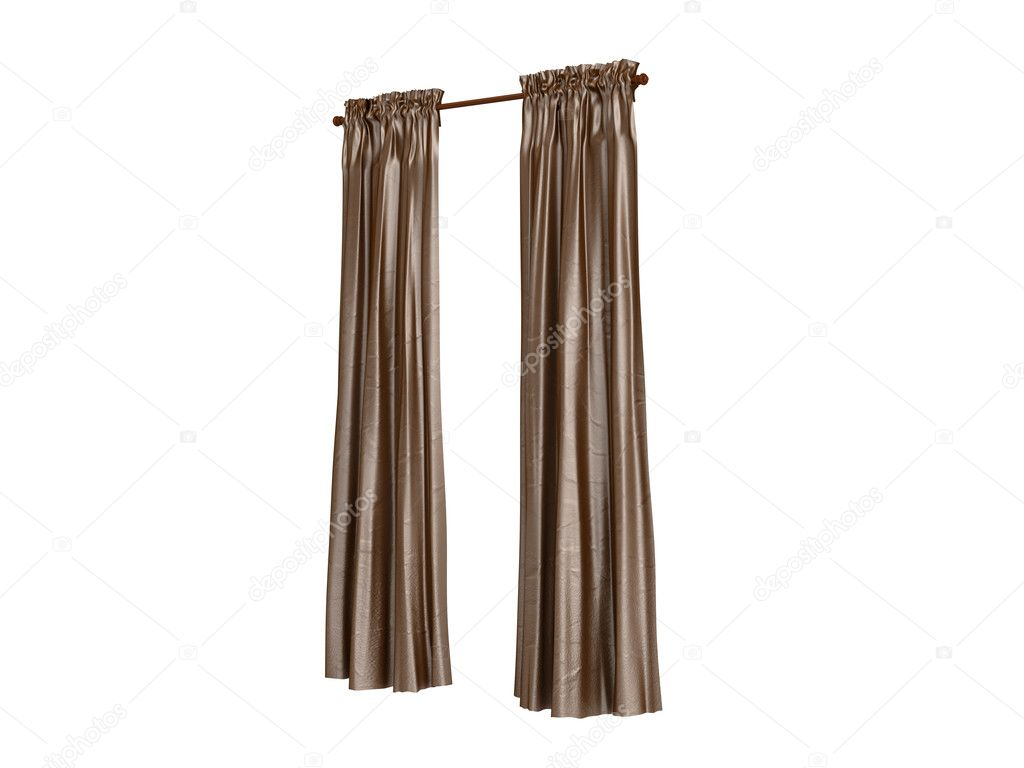 Curtains isolated on white background — Stock Photo #5360205