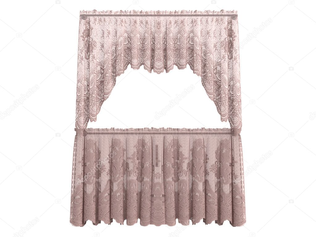 Curtains isolated on white background  Stock Photo #5360211