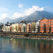 Houses in the historical city Innsbruck in Tirol — Stock Photo