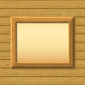 Wooden framework on a wall — Stock Vector