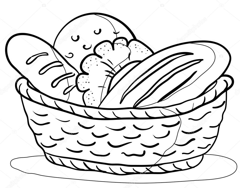 leaven bread coloring pages - photo#26