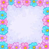 Background, frame from flowers — Stock Vector