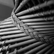 Part of wicker chair - Stock Photo