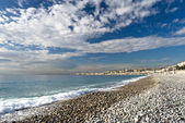 Beach in Nice — Foto de Stock