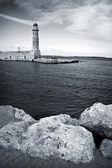 Old venetian lighthouse of Rethimno — Stock Photo