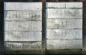 Texture of an old concrete mooring wall — Stock Photo