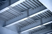 Modern steel automotive bridge construction — Stock Photo